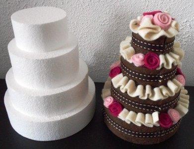 toren taart Piepschuim mini toren taart 4 lagen   viltdeco toren taart