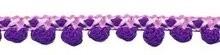 Bolletjesband 2 kleurig lila paars 10 mm breed, per meter