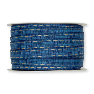 Stiksel band jeans blauw 10 mm breed per meter