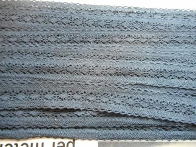 Kant donkerblauw 20 mm breed per meter