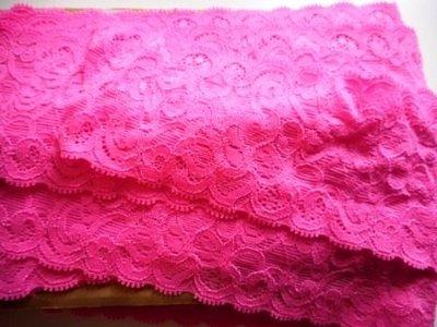 Elastisch kant knal roze 65 mm breed per meter
