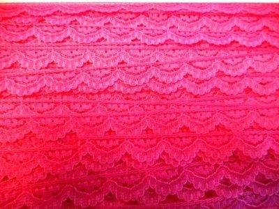 Kant fuchsia roze boogjes 12 mm breed per meter
