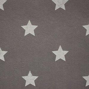 Vilt 3 mm dik donker grijs met witte sterren 90 cm breed per meter