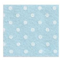 Vilt 3 mm dik licht blauw met witte stippen 50 x 70 cm per lap