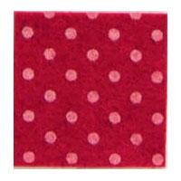 Vilt 3 mm dik rood met witte stippen 50 x 70 cm per lap