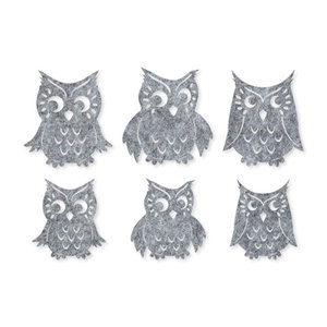 Vilt uilen grijs gemeleerd 6 stuks per zakje