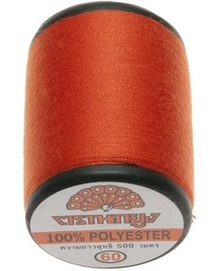 Naaigaren oranje 100% polyester 500 meter per klos