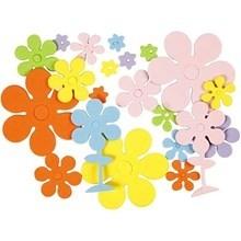 Foam bloemen zelfklevend 100 assorti