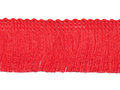 Franje band rood 30 mm breed, per meter