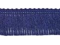 Franje band donker blauw 30 mm breed, per meter