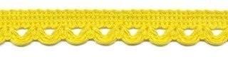 Lusjesband geel 12 mm breed per meter