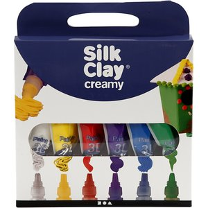 Silk clay creamy 3D paint primaire kleuren set