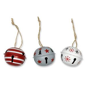 Kerstbellen, Mix Rood, 5 cm
