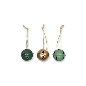 Kerstbellen Mix Groen, 3 cm