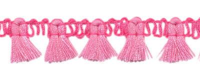 Kwastjesband roze fel roze