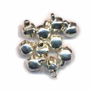 Belletjes zilverkleurig 6 mm 20 stuks per zakje