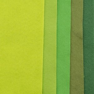 Vilt lapjes 1mm A4 10 lapjes, Groen