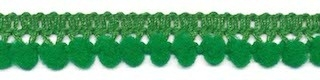 Mini pom pom band groen 10 mm breed per meter
