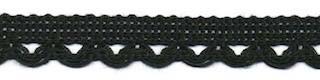 Lusjesband  zwart 12 mm breed per meter