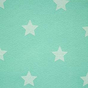 Vilt mint met sterren 3 mm dik 90 cm breed per meter