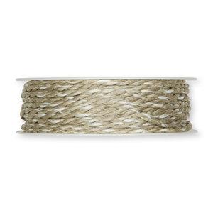 Koord wit bruin 4 mm breed per meter