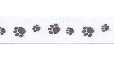 Lint pootjes bruin 16 mm breed per meter