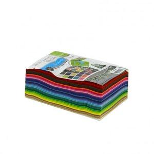 Vilt Lapjes Multipack • 10x15cm • 1mm dik • 30 vellen
