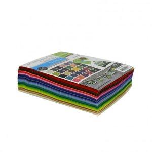 Vilt Lapjes Multipack • 15x20cm • 1mm dik • 30 vellen